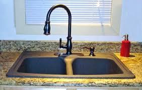 bronze faucets for kitchen kitchen sink paint black granite kitchen sink with bronze faucet