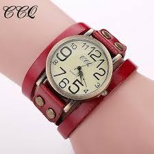 leather wrap bracelet watches images Ccq brand hot antique leather bracelet watch vintage women wrist jpg