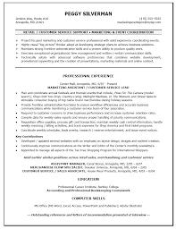 Resume Retail Sales Customer Customer Service Retail Resume