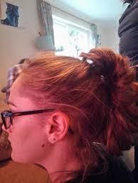 hair plait with chopstick vintage decorative chopsticks hair accessory 1970s brown 7 1 2