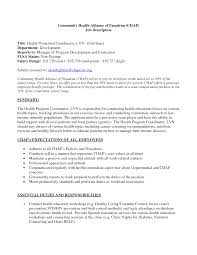 Best Qtp Resume by Health Promotion Coordinator Cover Letter