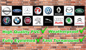 car logos car logos pvc banner