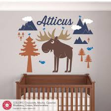 Nursery Name Wall Decals by Moose Mountain With Name Wall Decal Graphic Spaces