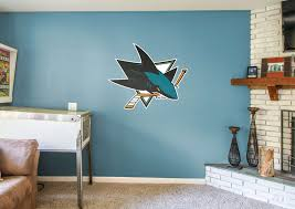 jose sharks logo wall decal shop fathead for jose