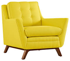 modern contemporary fabric armchair yellow fabric midcentury