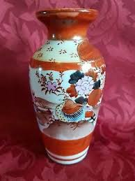 Japanese Kutani Vases Small Antique Japanese Kutani Vase Ebay