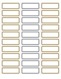 Mailing Label Templates 30 Per Sheet Gold And Silver Foil Mailing Labels