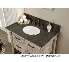 Rustic Bathroom Vanities And Sinks - accos 36 inch rustic bathroom vanity quartz white marble top