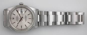 oyster bracelet images Rolex stainless steel oyster perpeptual datejust silver dial 2001 jpg