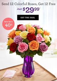 Colorful Roses 1 800 Flowers Com Send 24 Colorful Roses For Just 29 99 Milled