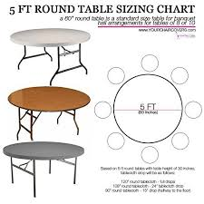 5ft round table in inches how to buy tablecloths for 5 ft round tables use this tablecloth