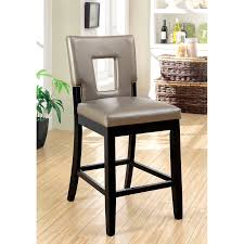 Contemporary Black Dining Chairs Furniture Of America Vanderbilte 2 Counter Height Open Back