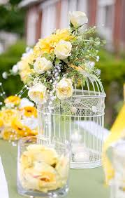 birdcage centerpieces creative idea white birdcage flower arrangement table