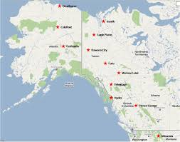 Alaska City Map by Dan T Moore Journeys