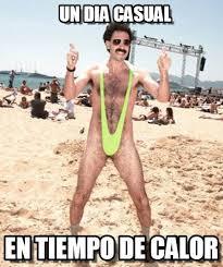 Borat Not Meme - un dia casual borat traje de ba祓o meme on memegen