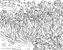 irises by vincent van gogh coloring page jpg 1 626 1 300 pixels