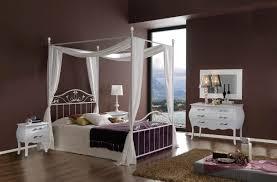 Schlafzimmer Mit Metallbett Sam Design Metallbett Himmelbett 160 Cm Weiß Teresa