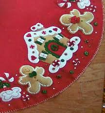 tree skirts felt gingerbread tree skirt