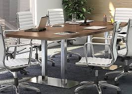 D Shaped Conference Table 8 24 Modern Conference Table With Metal Bases Boardroom