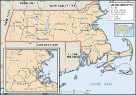 Massachusetts On Us Map by State And County Maps Of Massachusetts