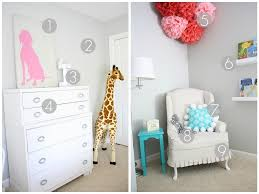 turquoise and pink big room project nursery