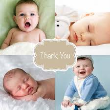 baby thank you cards personalised thank you cards printed in ireland by