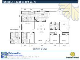 40x60 Floor Plans by Columbia Manufactured Homes Gold Series