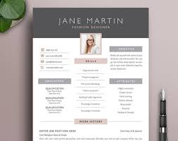 Modern Professional Resume Template Job Resume Template Etsy