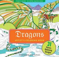 peter pauper press intricate dragon artist u0027s coloring book 9777