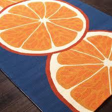Best Outdoor Rug by Jaipur Rugs Grant Citrus 2 X 3 Indoor Outdoor Rug Orange Blue