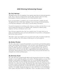 How To Write A Scholarship Essay Examples Sample Essay Deserve Award Lynxbus