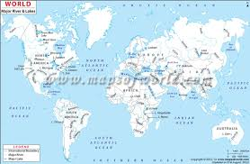 world rivers map rivers of world map timekeeperwatches