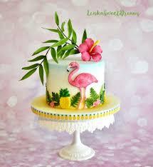 Tropical Themed Cake - tropical birthday cake cake by lenkasweetdreams cakesdecor
