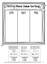 and paste place value worksheets for 2nd grade 3 digit numbers