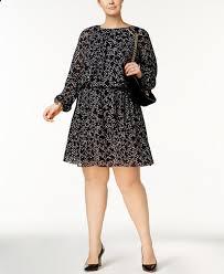 michael michael kors plus size star print peasant dress dresses