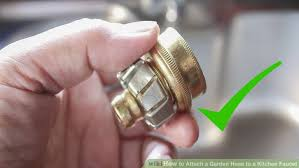 kitchen faucet hoses how to attach a garden hose to a kitchen faucet 10 steps