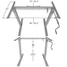 Adjustable Sitting Standing Desk titan manual hand crank adjustable sit stand standing desk frame