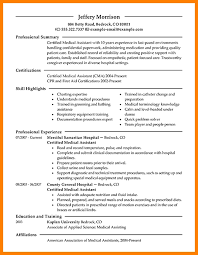 Free Medical Assistant Resume Templates 16 Free Medical Assistant Resume Samples You Can Use Now With