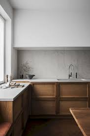 jaw droping scandinavian kitchen design white tile backsplash red