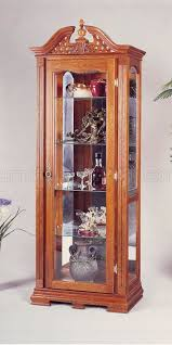 are curio cabinets out of style oak finish chippendale style curio cabinet w interior light