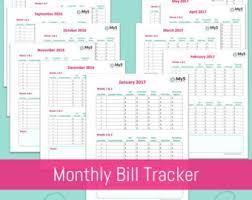 biweekly budget etsy
