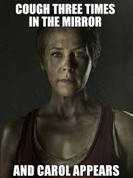 Carol Twd Meme - with a can of gasoline the walking dead the walking dead meme