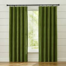 made from 100 cotton sateen these classic green curtain panels accent the room with