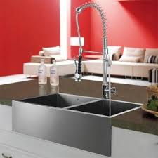 Sink With Double Faucet Stainless Steel Sinks And Modern Kitchen Faucets Quick Kitchen
