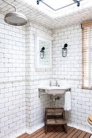 small vintage bathroom ideas keith mcnally s vintage white industrial tiles bathroom design