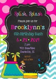 water slide party invitations oxsvitation com