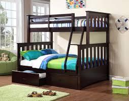Bunk Beds  Wood Full Size Loft Bed Top Bunk With Desk Underneath - Full bunk bed with desk underneath