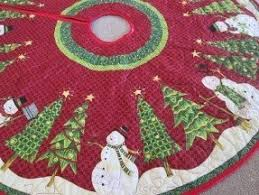 quilted christmas designer christmas tree skirts foter