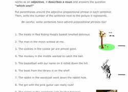prepositional phrases worksheets education com