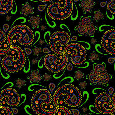 seamless paisley wallpaper asian style stock illustration image